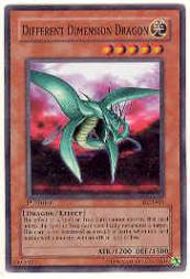 2003 Yu-Gi-Oh Dark Crisis 1st Edition #DCR15 Different Dimension Dragon SR