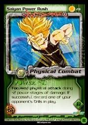 2002 Dragon Ball Z Cell Games Saga Limited #28  Saiyan Power Rush C