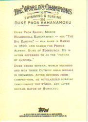 2006 Topps Allen and Ginter #302 Duke Paoa Kahanamoku back image