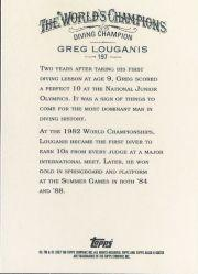 2007 Topps Allen and Ginter #197 Greg Louganis back image