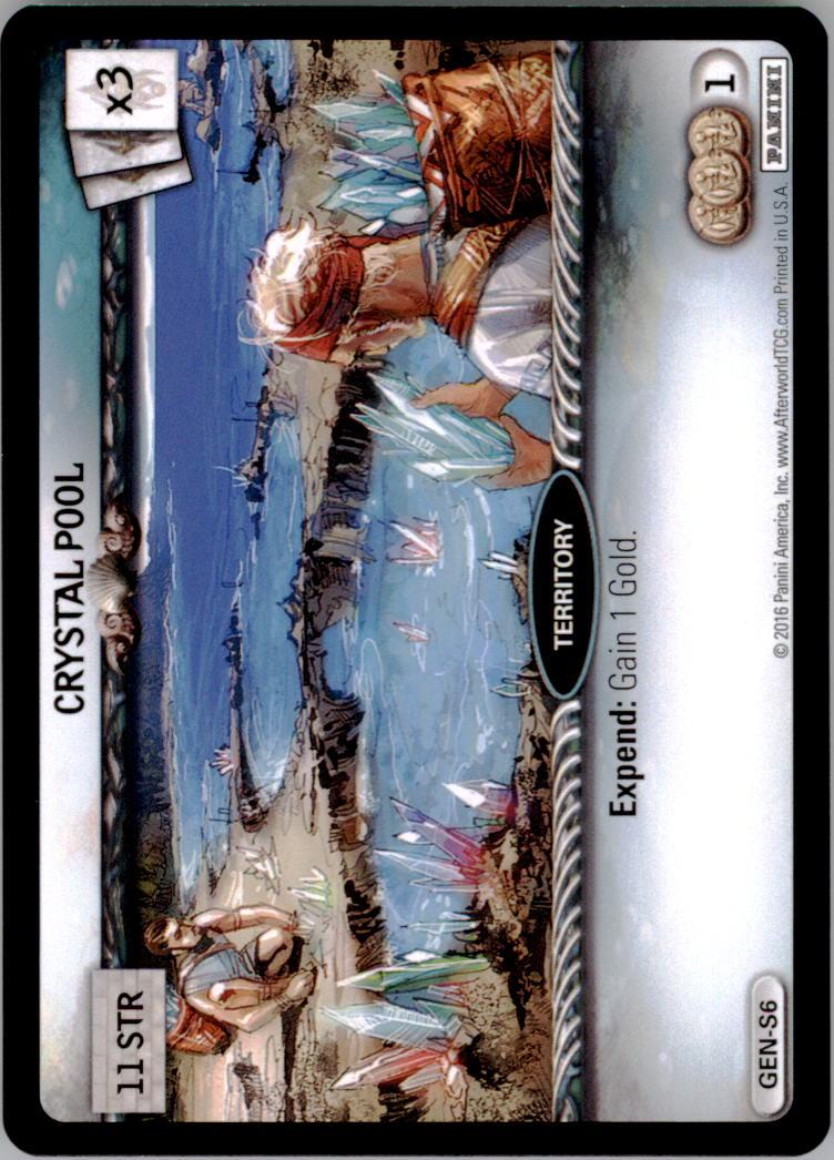 2016 Afterworld Atlantean Starter Set #GENS6 Crystal Pool  S