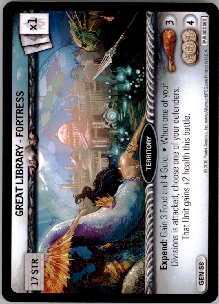 2016 Afterworld Atlantean Starter Set #GENS8 Great Library Fortress  S