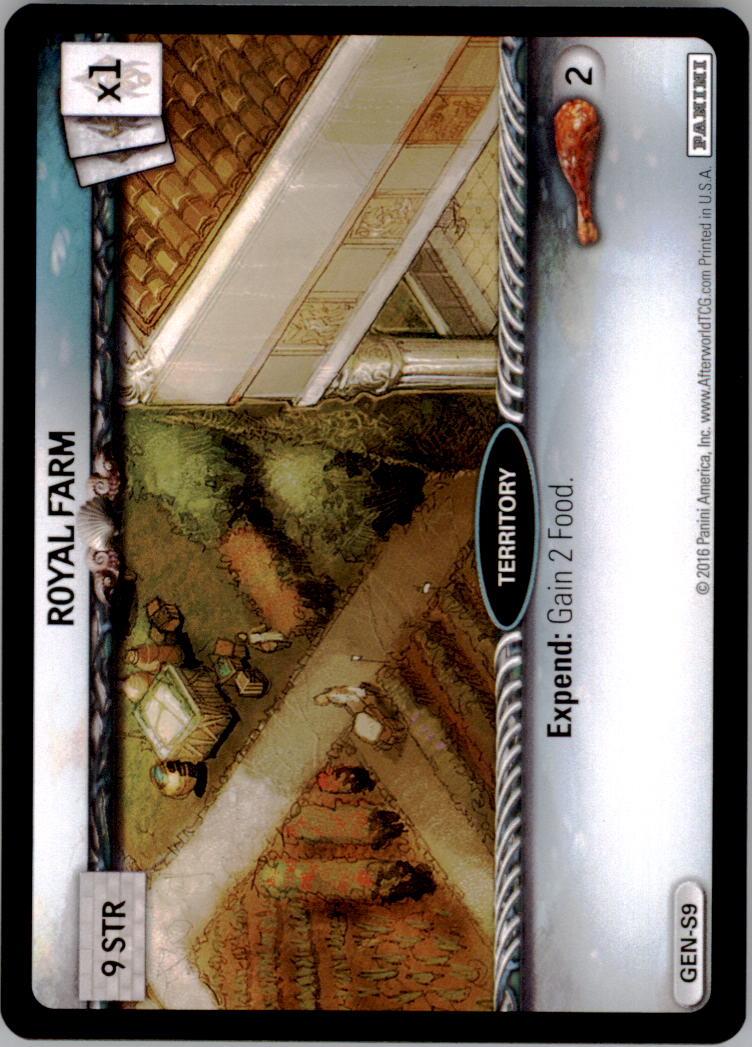 2016 Afterworld Atlantean Starter Set #GENS9 Royal Farm S