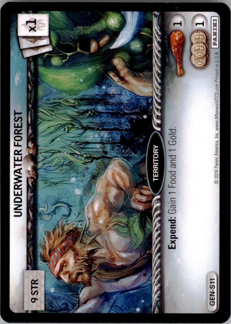 2016 Afterworld Atlantean Starter Set #GENS11 Underwater Forest S