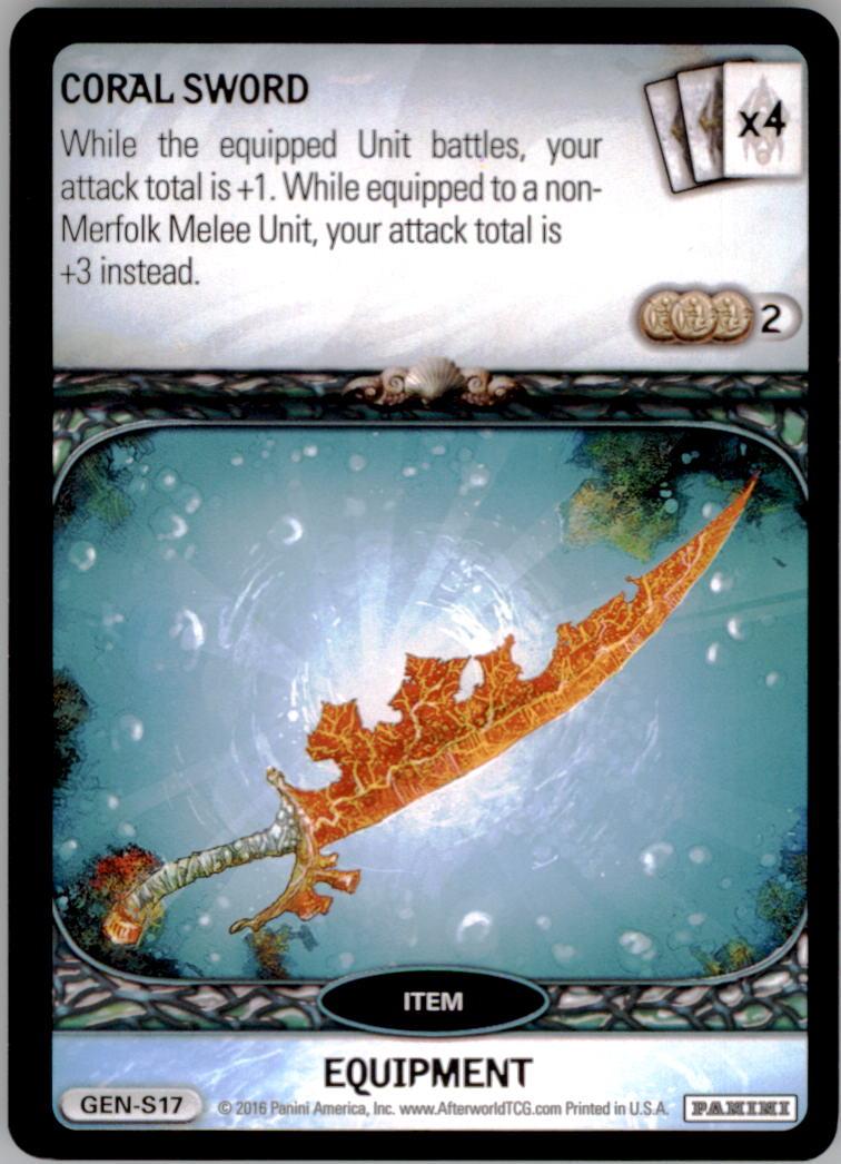 2016 Afterworld Atlantean Starter Set #GENS17 Coral Sword S