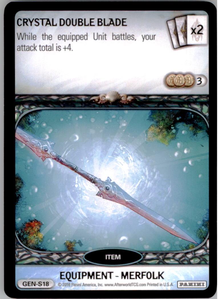 2016 Afterworld Atlantean Starter Set #GENS18 Crystal Double Blade S