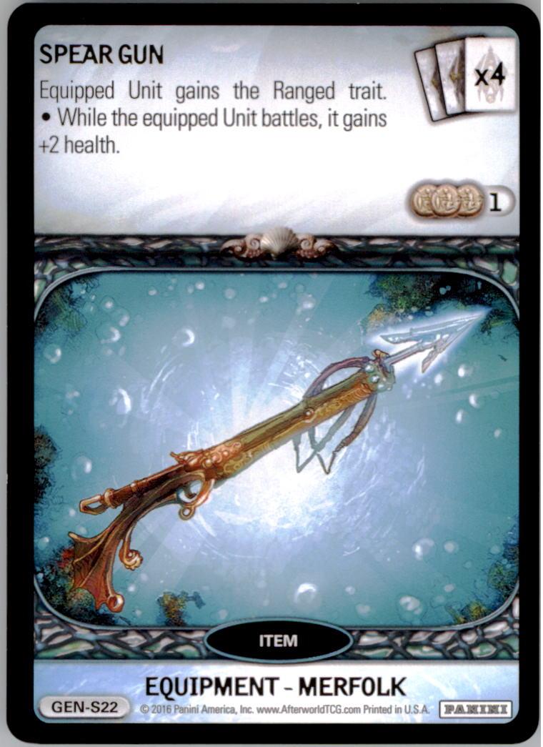 2016 Afterworld Atlantean Starter Set #GENS22 Spear Gun S