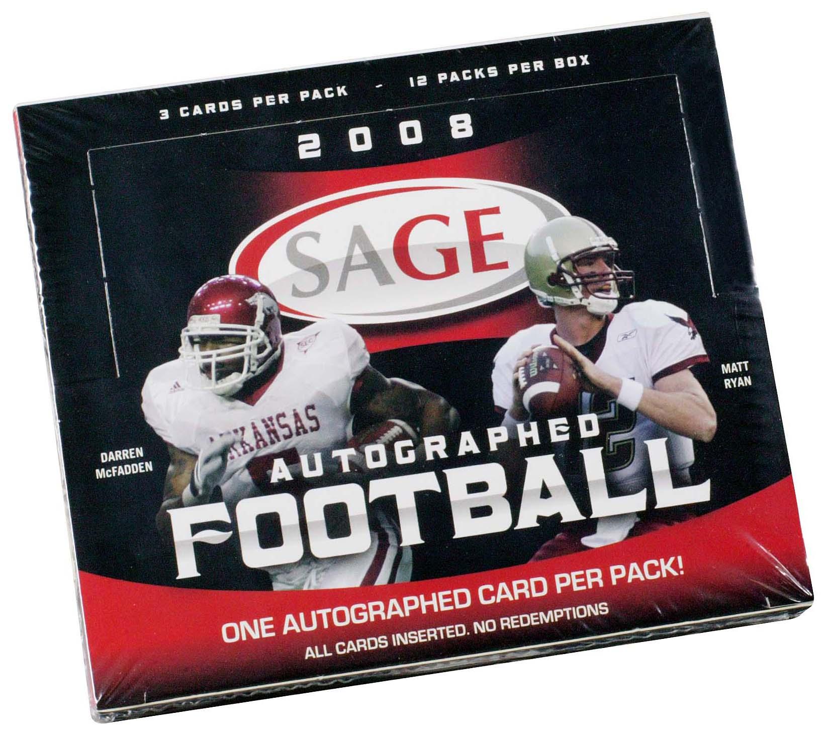 2008 SAGE Football Hobby Box
